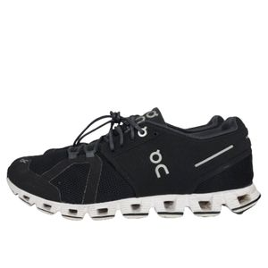ON CLOUD BLACK/WHITE RUNNING SHOES